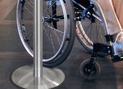Ultra Thin Base Stanchions Barriers